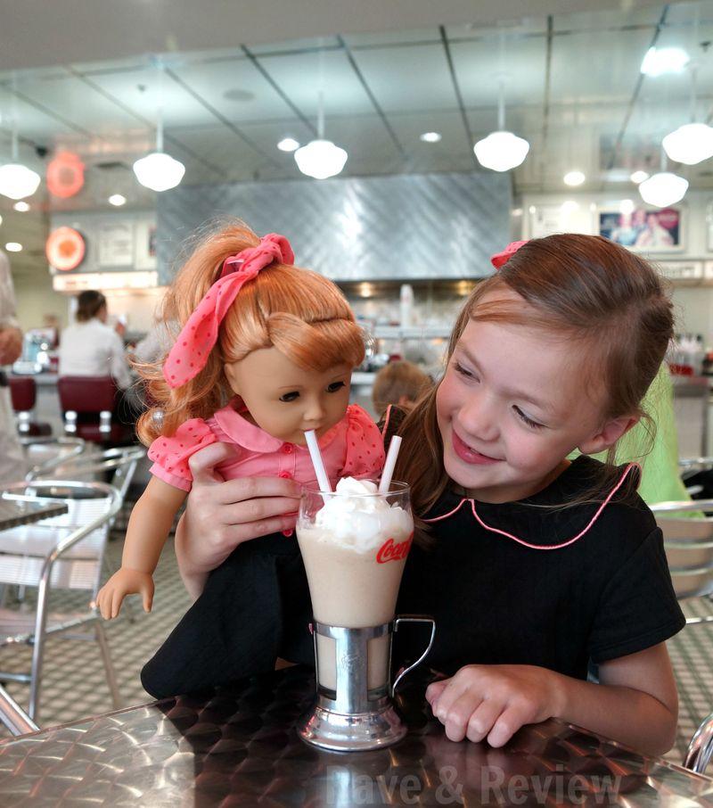 50s diner milkshake shared with Maryellen